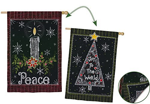 Peace Candle Garden Flag by Evergreen Enterprises Inc