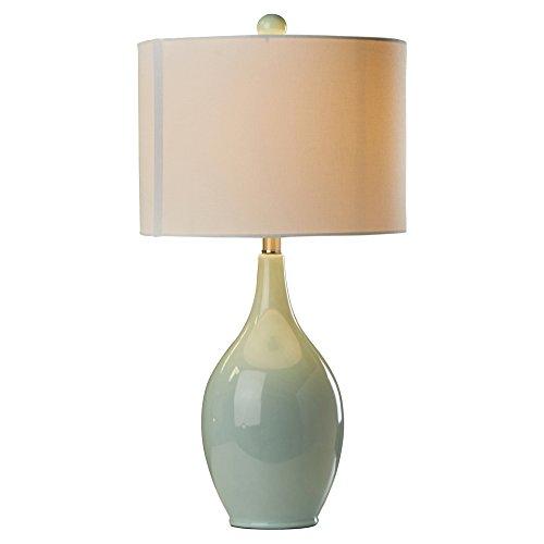 27 Incandescent Light Bedside Ceramic Table Lamp in Spa Blue