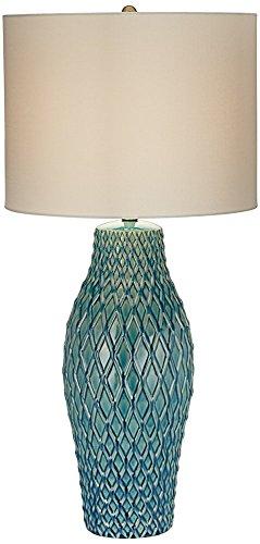 Kathy Ireland Nalu Blue Ceramic Table Lamp