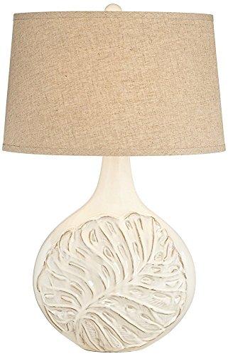 Palmier Milk Ivory White Ceramic Table Lamp