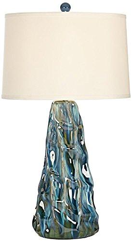 Salt Water Taffey Turquoise Blue Ceramic Table Lamp