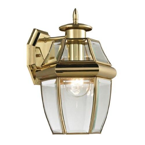 Elk Lighting 8601ew85 Ashford Coach Lantern Small Antique Brass Finish