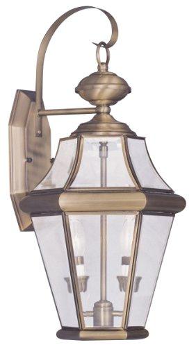 Livex Lighting 2261-01 Georgetown 2-light Outdoor Wall Lantern Antique Brass