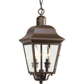 Progress Lighting Andover 1587-in Antique Bronze Hardwired Outdoor Pendant Light