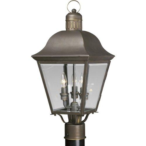 Progress Lighting P5487-20 3-light Andover Post Lantern Antique Bronze