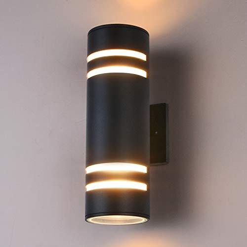 Outdoor Wall Light Fixture Gray Aluminum Modern Wall Lamp Waterproof Cylinder Porch Light Wall Sconce for Garden Patio ETL Listed