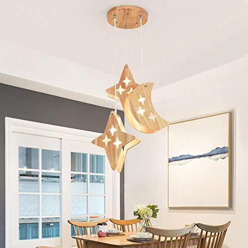 Modern Minimalist Dining Room lamp Three Head Personality Wooden Modern Minimalist Dining Room lamp Home Bedroom Corridor led Chandelier