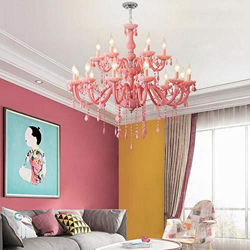 MEIDENG Girls Room Chandelier Living Room Bedroom Kids Room Chandeliers Lustre Fixture Pink Chandelier Lighting Fixtures