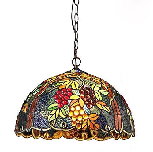 FUMAT 2 Lights Grape Tiffany Pendant Lamp Dining Living Room Lighing D1575
