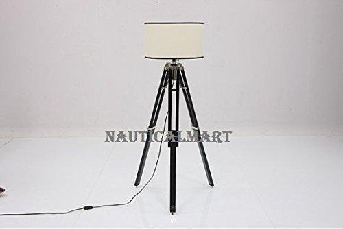 NAUTICALMART DESIGNERS VINTAGE TRIPOD FLOOR LAMP FOR LIVING ROOM BY NAUTICALMART
