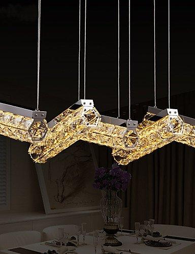 WCG Dining Room Lamp LED Dining Pendant Lamp Five Crystal Pendant Lamp Five Lighting Bar Restaurant Hanging Lamps 8802  white-90-240v