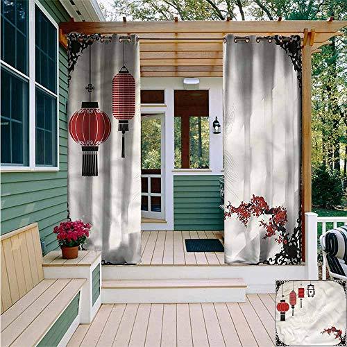 AFGG Curtains for BedroomLantern Minimalist New YearWaterproof Patio Door PanelW84x108L