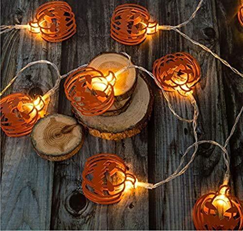 String Lights Light String Halloween Led Living Room Decoration Gift Boy Outdoor Party Holiday Hat Ghost Pumpkin Bedroom Lantern Christmas Size  2m10LED
