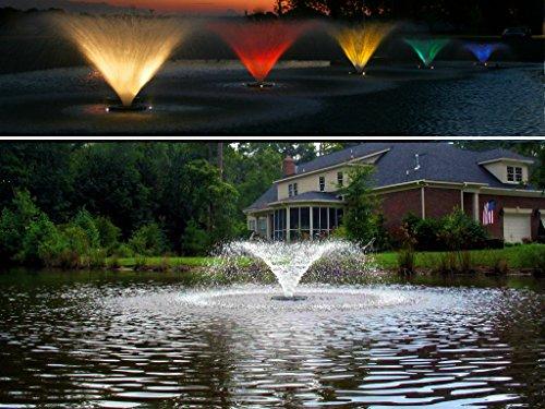 Kasco Decorative Aerating Lake Pond Fountain WITH LIGHT KIT - 12 HP