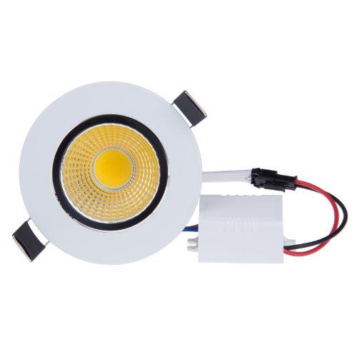 Lemonbest Dimmable 5W COB LED Ceiling Light Downlight Warm White Spotlight Lamp Recessed Lighting Fixture  Halogen Bulb Replacement