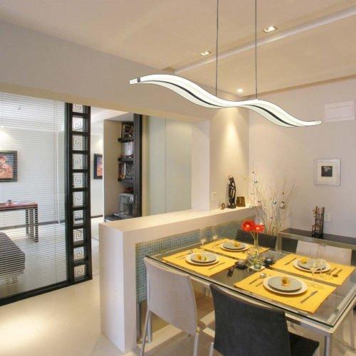 Kissmoji Dining Living Room Modern Chrome LED Ceiling Fixture Lighting