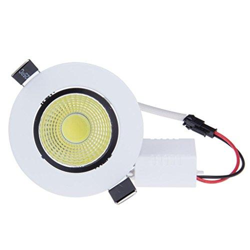 Lemonbest&trade High Power Dimmable Recessed Led Ceiling Down Light Fixture 7 Watts Cob Led Spotlight Flood Lamp Cool