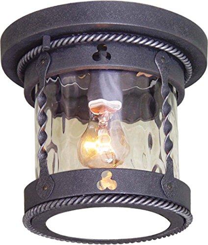 Volume Lighting V8163-48 1-Light Outdoor Flush Mount Ceiling Fixture Blacksmithy
