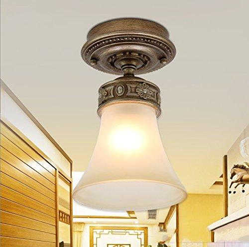 Round Retro Living Room European Bedroom Ceiling Light Corridor Lamp