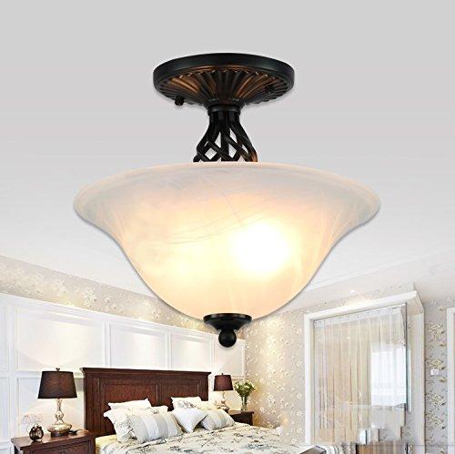 Round Retro Living Room European Bedroom Ceiling Light Corridor Lamp Size  414133cm