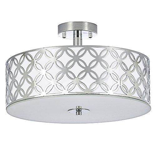 SOTTAE 12 Luxurious Living Room Bedroom Ceiling lamp Creamy White Glass Diffuser Chrome Finish Flush Mount Ceiling LightModern Ceiling Light Fixture