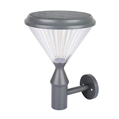 CJJC Solar Outdoor Wall Lights Waterproof LED Wireless 7000 MAh Wall Lamp Ideal for Garden Patio Hallway Lighting 26 X 37 X 19cm
