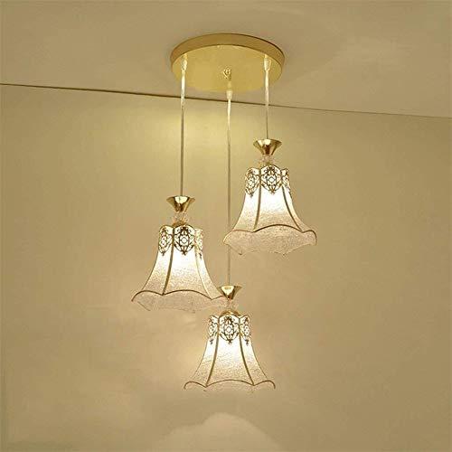 DENG American Simple Modern Chandelier Bedroom Restaurant Continental Creative Iron Glass Art Chandelier E27 Magnolia Modeling Celling Lamp Light 110 Color  B