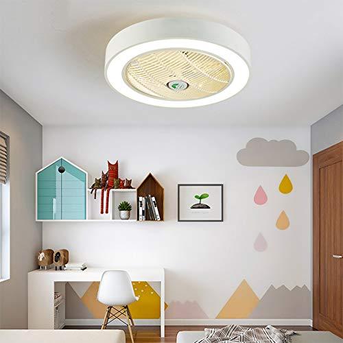 DishyKooker APP Control 110V 220V Macarons Color LED Celling Light Fan for Restaurant Kids Room Bedroom White 55CM