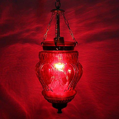 IndianShelf Handmade Decorative Red Hanging Glass Light Fixture Small Chandelier Celling Lamp Indian Online