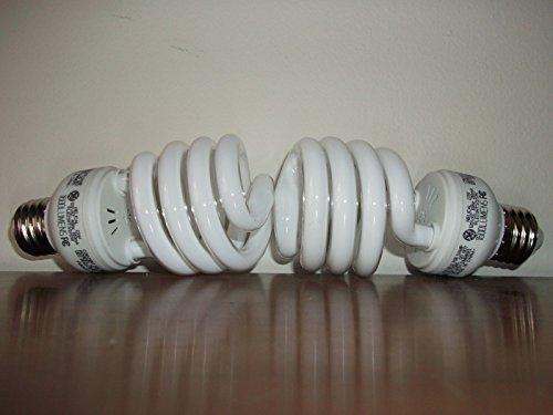 100 WATT CFL GROW LIGHT BULBS - 6500 K SPECTRUM USES 23 WATTS Set of 2