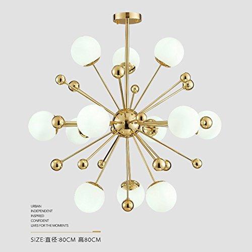 Modern Chandelier 12 Lamp Pendant Lamp Milk White Glass Ball Ceiling Chandelier Electroplating Gold Material Decorative Indoor Ceiling Lamp 12 light