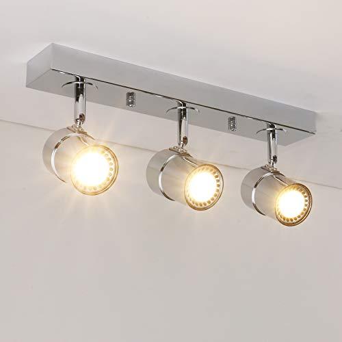 Pathson Vintage Style Tracking Lighting 3 Lights Indoor Ceiling Light Fixtures Chrome Antique Finished Hanging Spotlights Chrome
