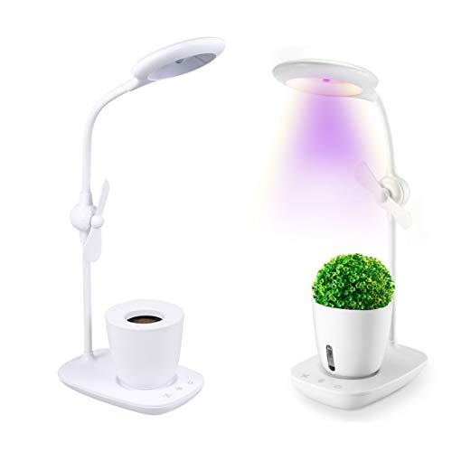 Uonlytech Growing Lamp Full Spectrum LED Succulent Fill Light with Fan LED Plant Light for Vegetable Greenhouse Flower 1Pcs White