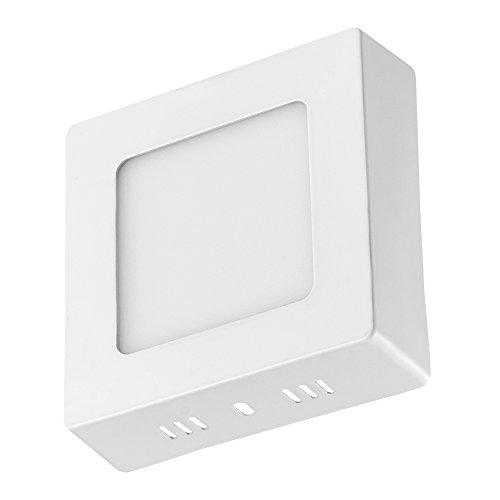 61218W Panel Light Super Thin Square LED Panel Light with AC85-265V Ceiling Lights Warm White Led Ceiling Light LED Panel Light for Home and Commercial Places 6W Warm White Square