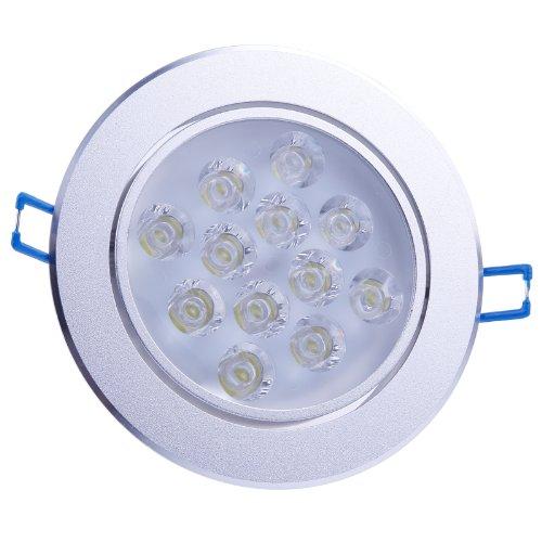 LEMONBEST Super Bright Cool White 12W LEDs Ceiling Light Spotlight Recessed Downlighting Decoration