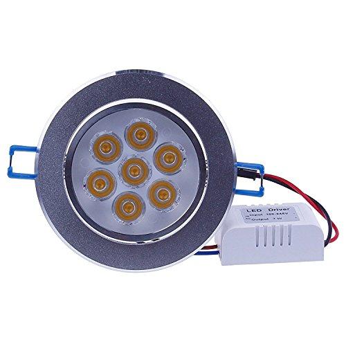 LEMONBEST Super Bright Dimmable 7W LED Ceiling Light Downlight Recessed Lighting kit for Decoration Lighting lamp 110V with Transformer Warm White