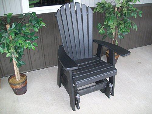 Outdoor Poly Adirondack Gliding Chair - Amish Made Usa -black
