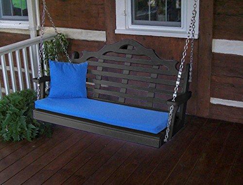 Furniture Barn USA Outdoor Poly 4 Foot Marlboro Swing - Black