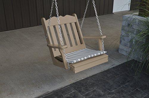 Furniture Barn USA Outdoor Poly Royal English Chair Swing - Weather Wood