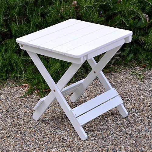 Plant Theatre Adirondack Folding Hardwood Table - Painted White - Superb Quality