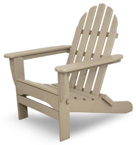 Ivy Terrace IVAD5030SA Classics Folding Adirondack Chair Sand