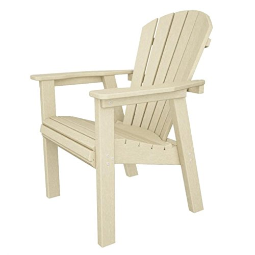 3575 Recycled Earth-Friendly Patio Outdoor Adirondack Dining Chair- Sand Brown