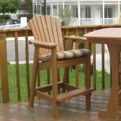 Bar Height Adirondack Dining Chair - Sand