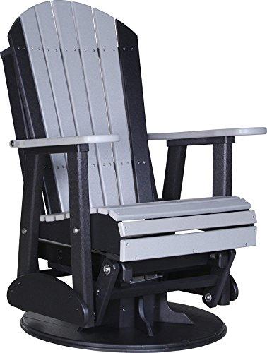 Luxcraft Recycled Plastic 2 Adirondack Swivel Glider Chair