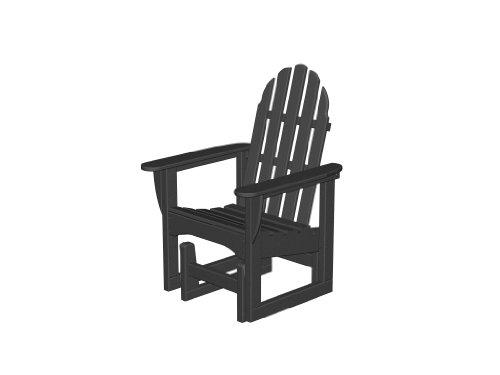 Polywood Adirondack Glider Chair Black