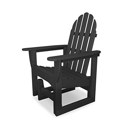 Polywood Adirondack Glider Chair In Slate Grey