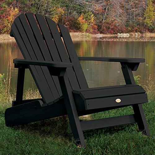 Eco-friendly Reclining Adirondack Chair In Black