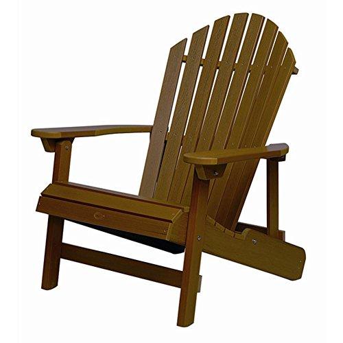 Folding 3 Level Reclining Adirondack Chair King Size Weathered Acorn Finishgy583-4 6-dfg274436