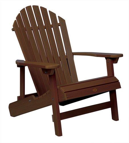 Highwood King Hamilton Folding and Reclining Adirondack Chair Weathered Acorn
