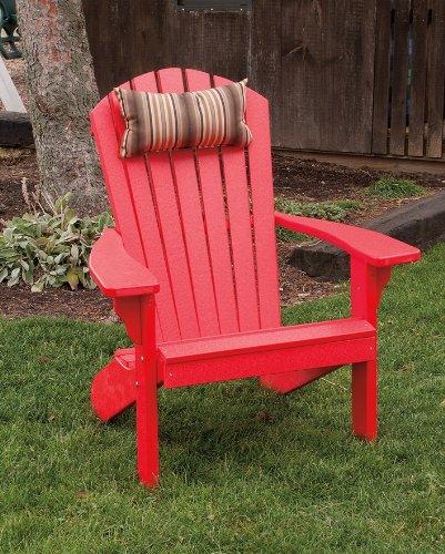 POLY Folding Reclining Adirondack Chair - Amish Made USA - Bright Red